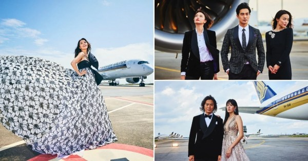 Star Awards 2021 Sees Artistes Strut Their Stuff In Front Of An SIA Plane & They're Lookin' Fly