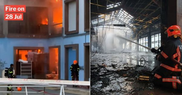 Massive Geylang Bahru Fire Sees Roof Tiles Collapsing, SCDF Deploys 40 Firefighters To Scene