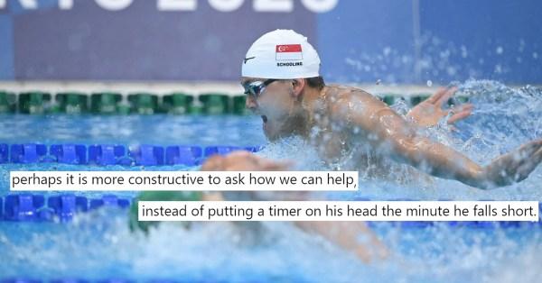 Netizen Calls Out Critics Of Schooling's NS Deferment, Says We Should Encourage Athletes