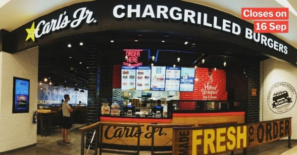 Carl's Jr. VivoCity Closes For Good, Customers Mourn Loss Of 15-Year-Old Outlet