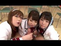 浜崎りおとつぼみと北川瞳が奪い合うようにチンポをフェラチオするハーレムプレイなキョニュ動画(無料