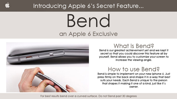 Bendable iPhone A New Feature