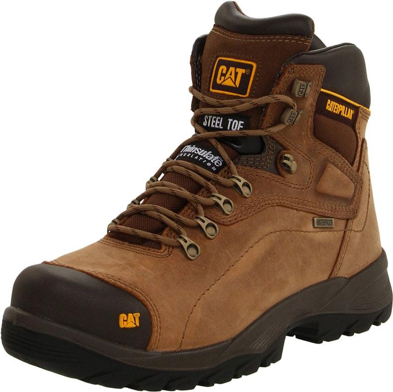 CATERPILLAR MEN'S DIAGNOSTIC STEEL TOE WATERPROOF MENS WORK BOOT | Best Work Boots For Men