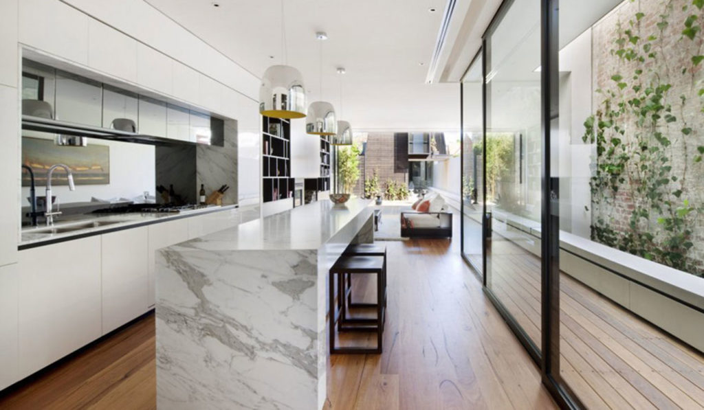 The-Nicholson-Residence-By-Matt-Gibson-Architecture-+-Design-Melbourne-Kitchen-Glass-Walls