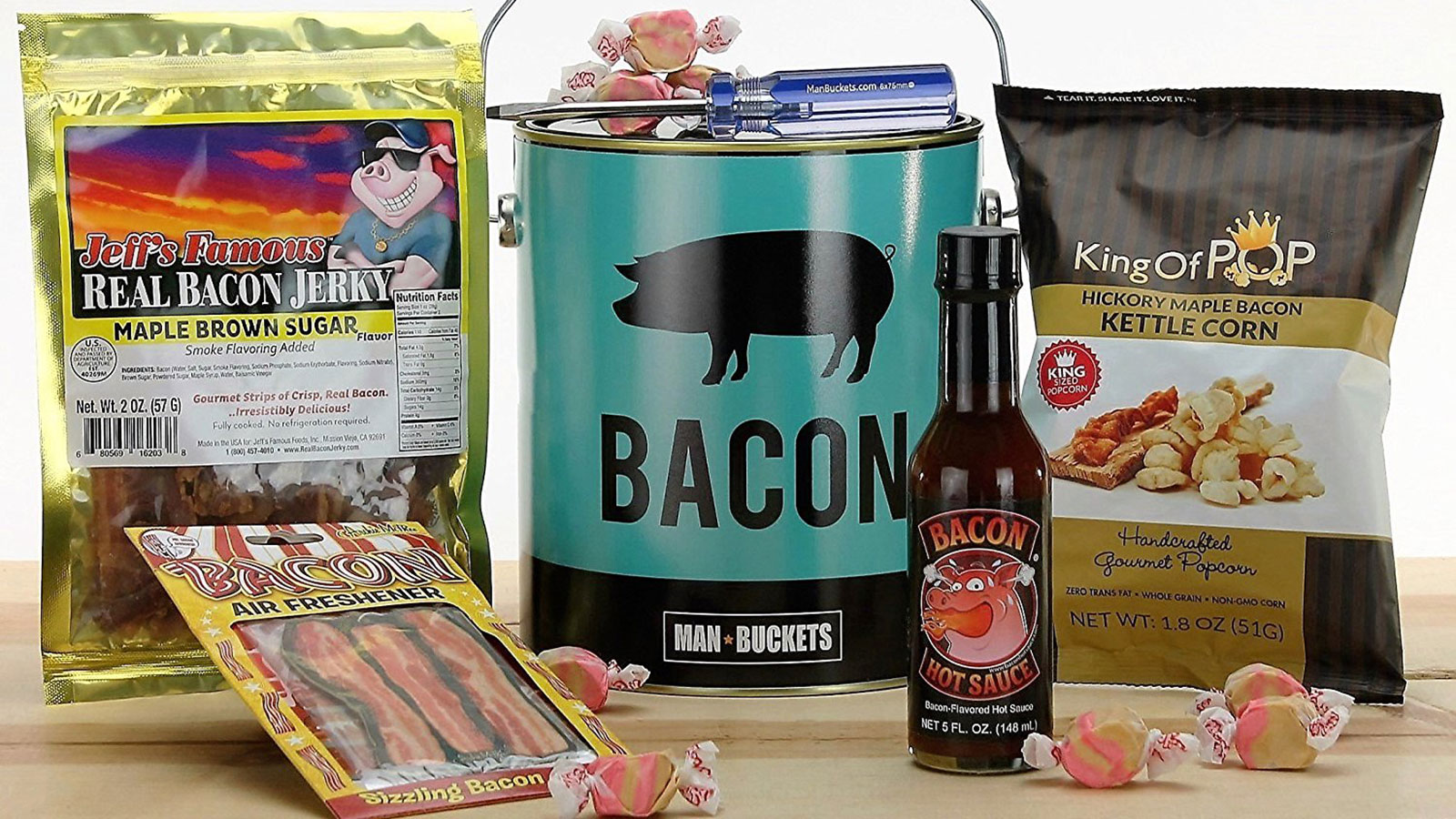 ManBuckets BACON Bucket Gift Basket | Gifts For Men | Gift Baskets For Men