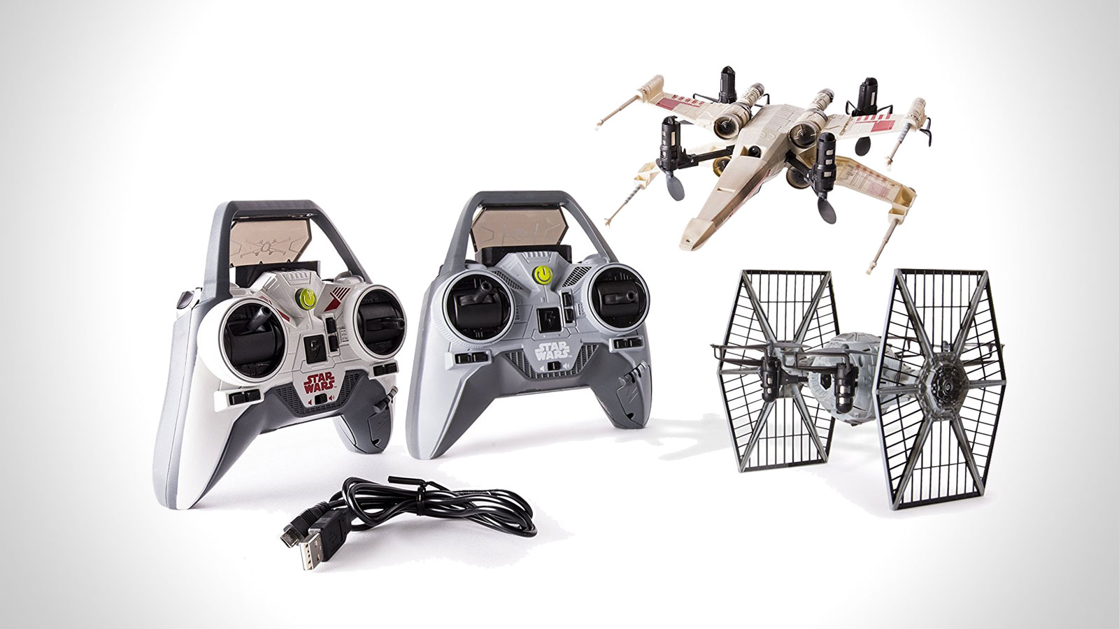Star Wars X-wing vs. TIE Fighter Drone Battle Set | gifts for men | the best star wars gifts