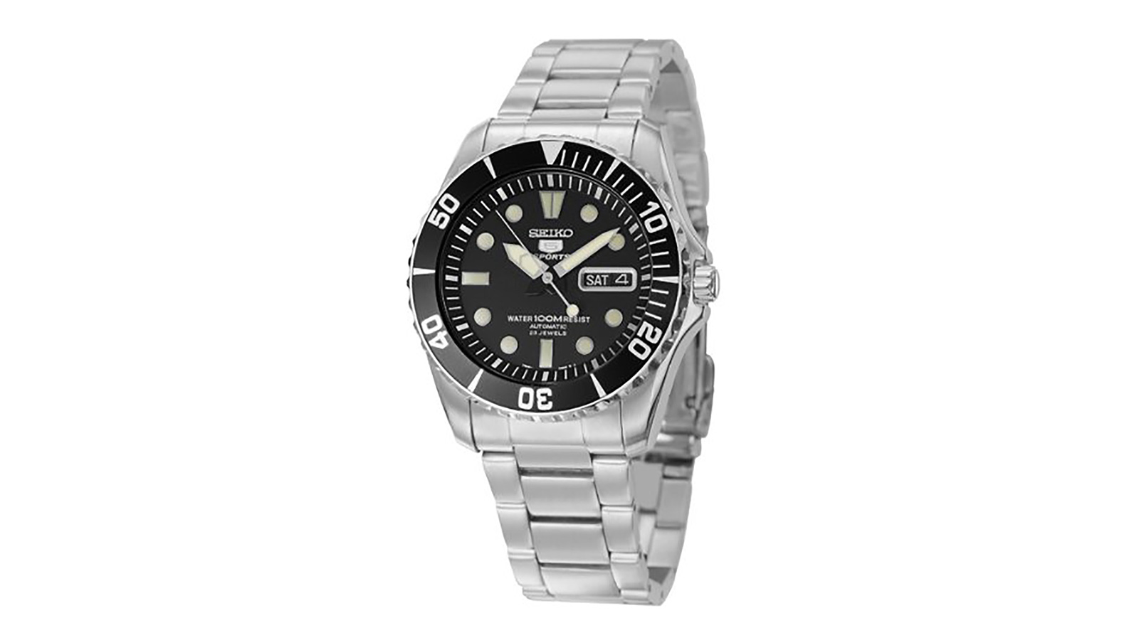 Seiko Men's SNZF17J1 5 Sports Automatic Stainless Steel Watch | the best men's watches under $200