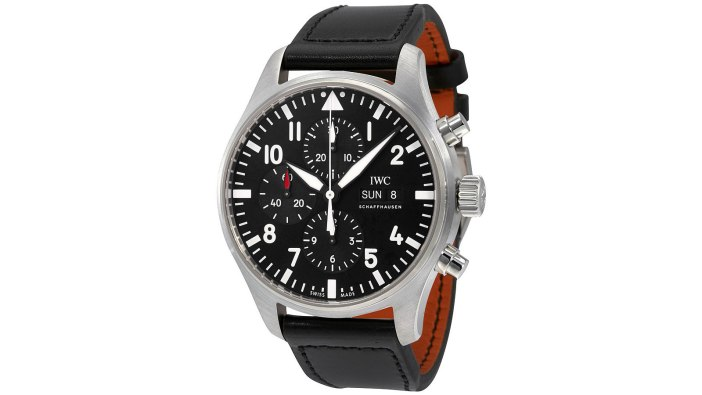 IWC Pilot Black Automatic Chronograph Men's Watch | the best pilot watches for men
