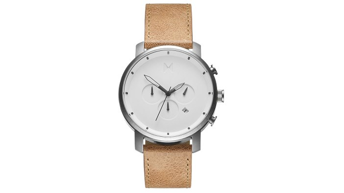 MVMT Chrono White Caramel Leather Watch | best men's watches under $300