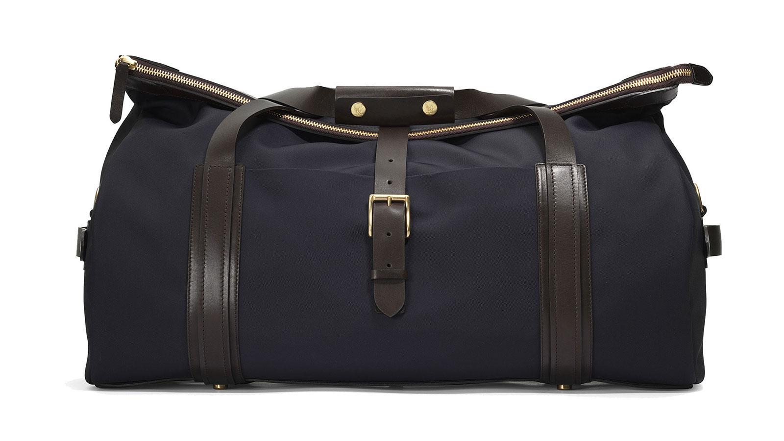 Mismo M/X Explorer Navy/Dark Brown Weekender Duffel Bag | the best weekender bags for men