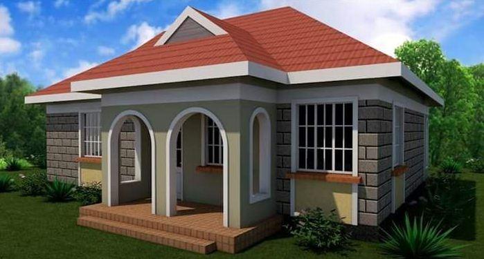 2 Bedroom House plan in Kenya (best two bedroom house designs ...