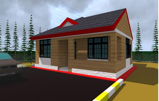 modern 3 bedroom house in kenya - View Modern 3 Bedroom Bungalow House Plans In Kenya Pictures