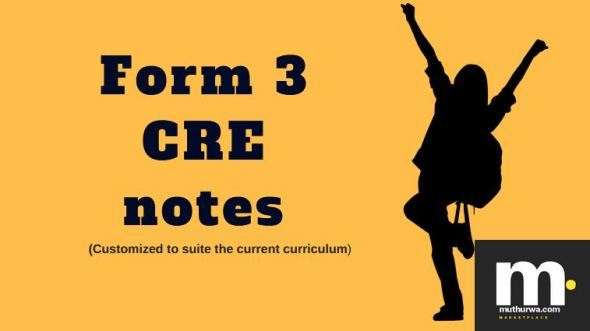 Form three CRE notes