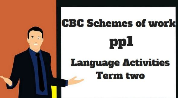 Language Activities pp1 term two, cbc schemes of work
