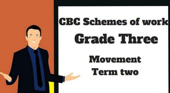 Movement term 2, grade three, cbc schemes of work