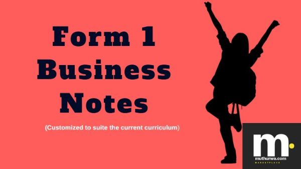 form one business notes for revision