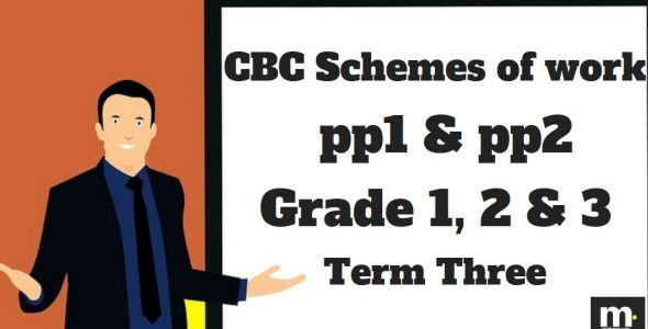 English Grade 1 CBC schemes of work , Term three, free pdf download