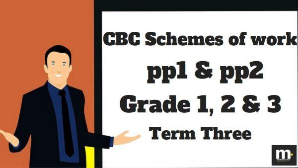 English Grade 3 CBC schemes of work , Term three, free pdf download