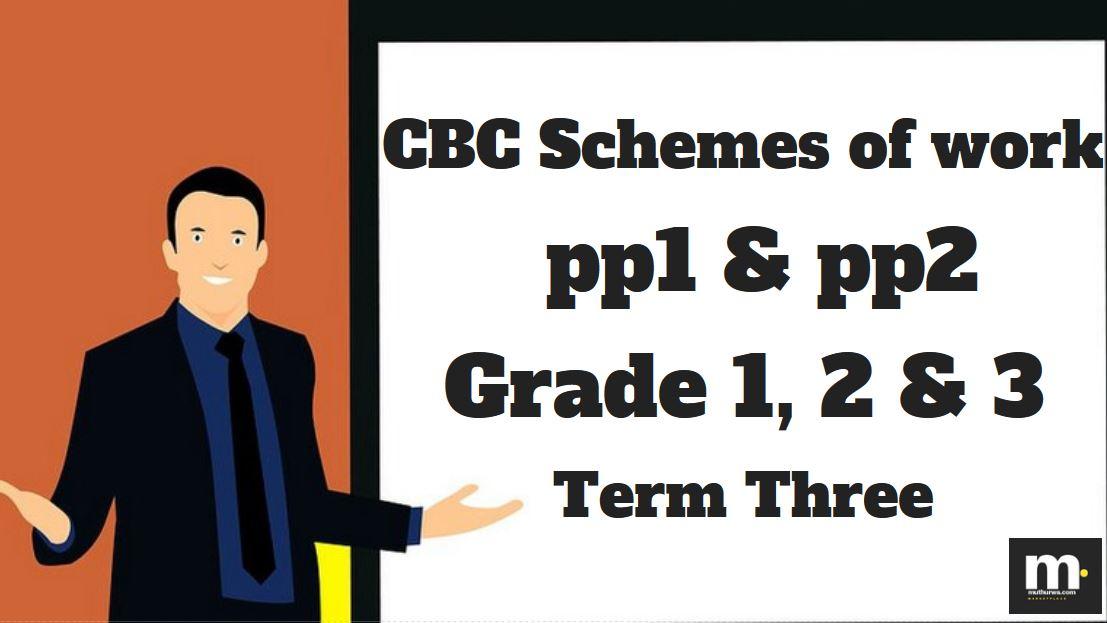 PP1 Mathematics CBC schemes of work, Term 3 (KICD Curriculum) - Muthurwa  Marketplace