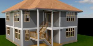 2Bedroom, 2 story House Plan in Kenya