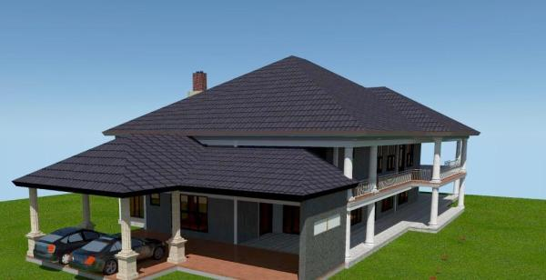 4 bedroom mansion house plan in Kenya