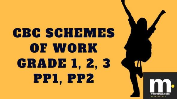 Language cbc schemes of work for Term 1 pp1 2019