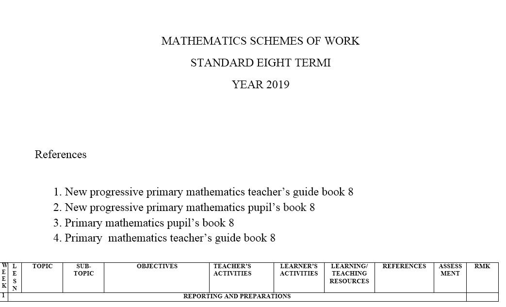 class 8 New progressive primary mathematics term 1,2,3 (new curriculum) -  Muthurwa Marketplace