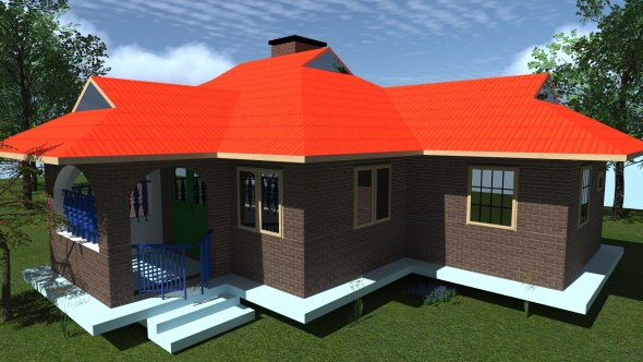modern 3 bedroom house plan in Kenya