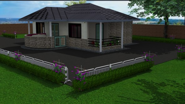 Two Bedroom Bungalow House Design (Master En-suite)