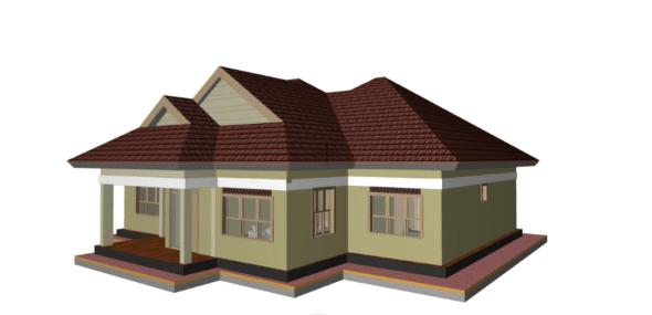 simple two bedroom house plans in kenya