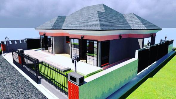 2 Bedroom House plan for a family in Kenya