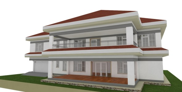 5 Bedroom Mansion house plan