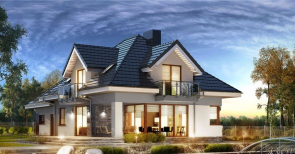3 Bedroom House Plan With An Attic