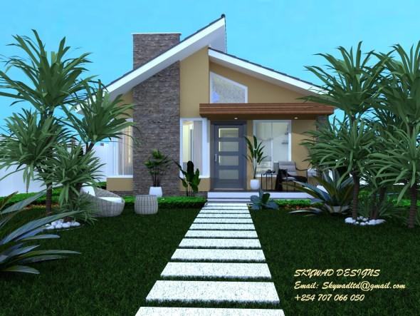 2 Bedroom Bungalow House Plan