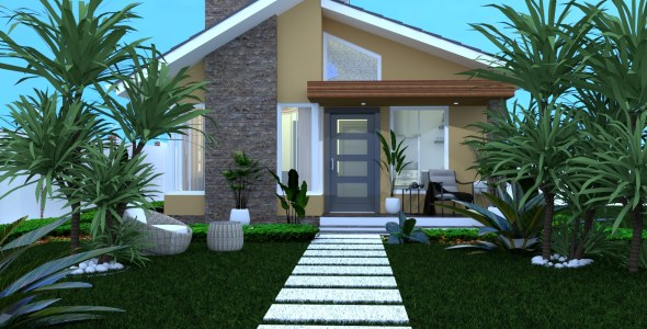 2 Bedroom Bungalow House Plan