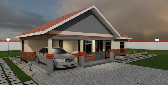 4 Bedroom Bungalow House Plan