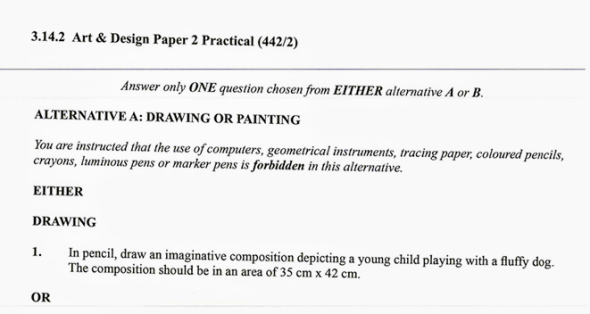 KNEC KCSE 2019 Art & Design Paper 2 (Past Paper with Marking Scheme)