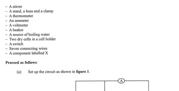 KNEC KCSE 2019 Physics Paper 3 (Past Paper)