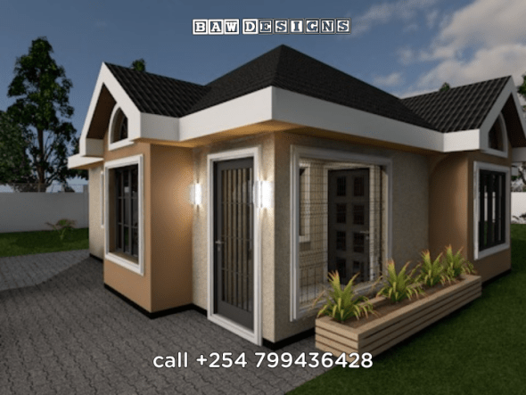 Typical Suburban 3 Bedroom Bungalow House Plan