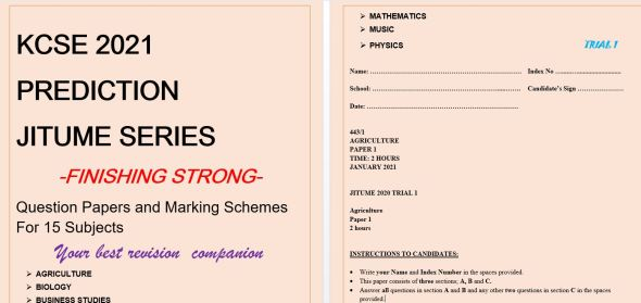 KCSE 2021 revision past papers