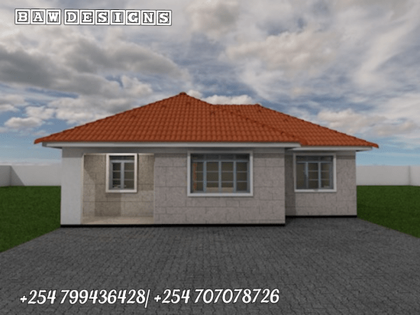 Simple 3 Bedroom Bungalow House Plan