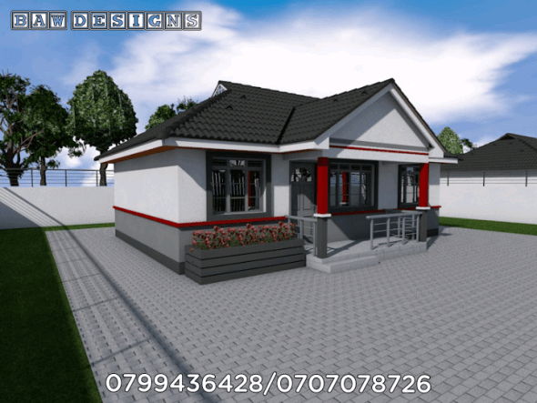 Simple and Beautiful 2 Bedroom Master Ensuite Bungalow