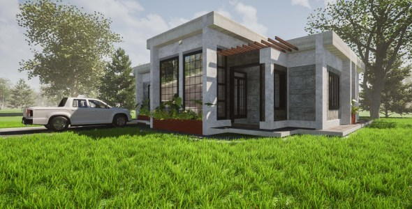3 Bedroom Modern Bungalow House Plan