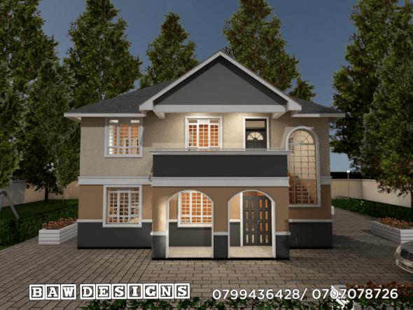 Beautiful 4 Bedroom Maisonette House Plan