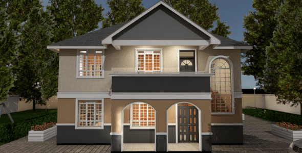 Beautiful 4 Bedroom Maisonette House Plan