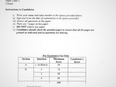 Moi Post-Mock Music Composite Paper 2 & 3 2021 (Without Marking Scheme)