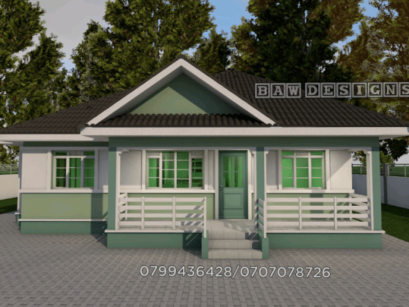 Master Ensuite 3 bedroom House Plan
