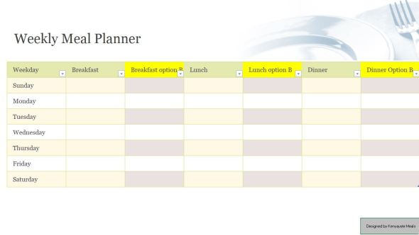 Kenya Weekly Timetable and Planner for family