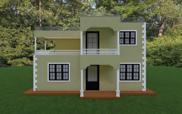 Four Bedroom Maisonette House Plan