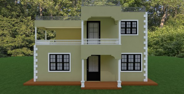 Four Bedroom Maisonette House Plan